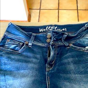Wall flower jeans